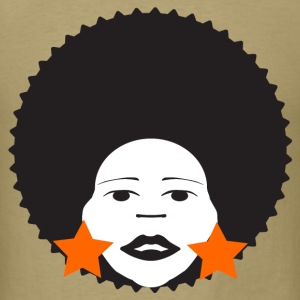 Khaki afro woman orange T-Shirts - Men's T-Shirt