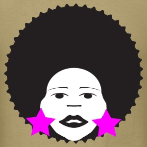 Khaki afro woman pink T-Shirts - Men's T-Shirt