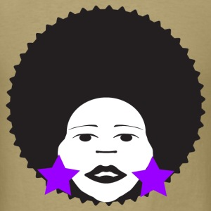 Khaki afro woman purple T-Shirts - Men's T-Shirt