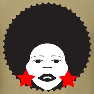 Khaki afro woman red T-Shirts - Men's T-Shirt