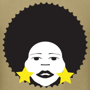 Khaki afro woman yellow T-Shirts - Men's T-Shirt
