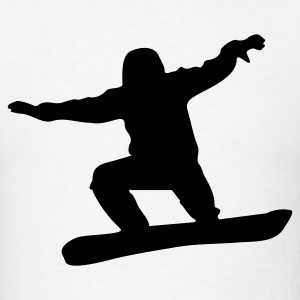 White snowboard T-Shirts - Men's T-Shirt
