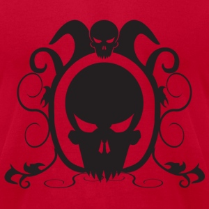 Red skull decor T-Shirts - Men's T-Shirt by American Apparel