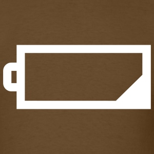 Brown battery T-Shirts - Men's T-Shirt