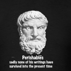 Black Perishablés - white text T-Shirts - Men's T-Shirt