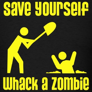 Save Yourself, Whack a Zombie - Men's T-shirt - Men's T-Shirt