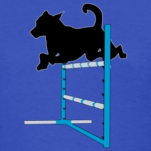 Dog Over Single Agility Jump - Women's T-Shirt