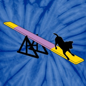 Dog On Agility Teeter - Unisex Tie Dye T-Shirt