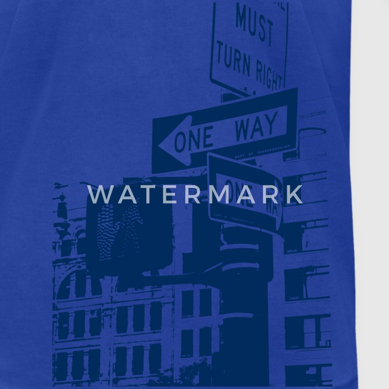 Royal blue One Way T-Shirts - Men's T-Shirt by American Apparel