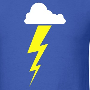 Lightning Thunder Cloud 2c - Men's T-Shirt