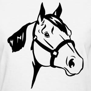 Horse Face 1c - Women's T-Shirt