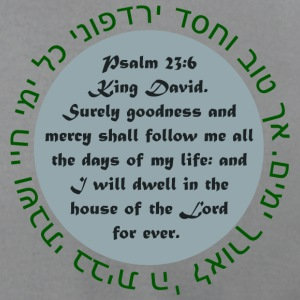 Slate Psalm 23 T-Shirts - Men's T-Shirt by American Apparel