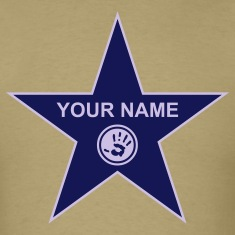 Khaki your walk of fame + your name T-Shirts