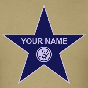Khaki your walk of fame + your name T-Shirts - T-shirt pour hommes