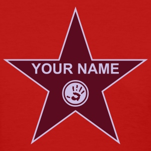 Red your walk of fame + your name Women's T-Shirts - Women's T-Shirt