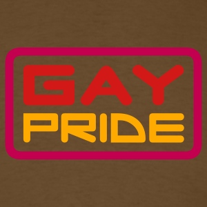 Brown gay pride (v2) T-Shirts - Men's T-Shirt