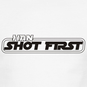 White/black Han shot first T-Shirts - Men's Ringer T-Shirt