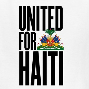 White united for haiti - all author rights will be sent  Kids' Shirts - Kids' T-Shirt