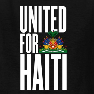 Black united for haiti white - all author rights will be Kids' Shirts - Kids' T-Shirt