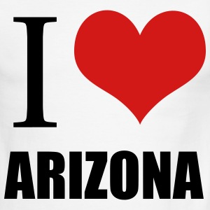 White/black I love Arizona T-Shirts - Men's Ringer T-Shirt