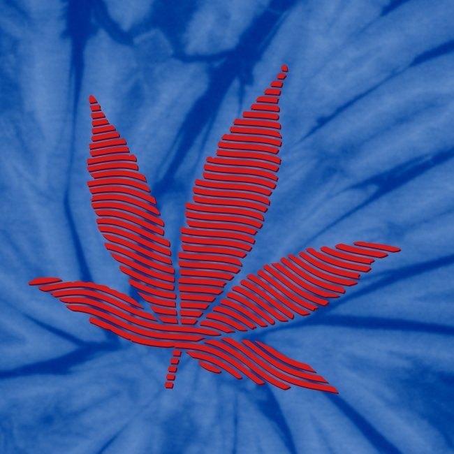 3034b11707 seedfinders shirtshop   Striped Leaf (MaroonRed) Tie Dye T-Shirt ...