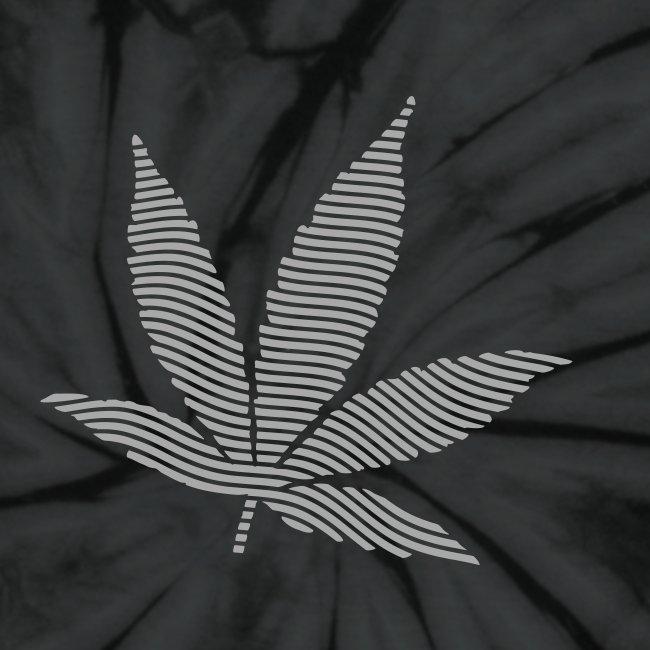 1734aa8a21 seedfinders shirtshop   Striped Leaf (SilverGlitz) Tie Dye T-Shirt ...