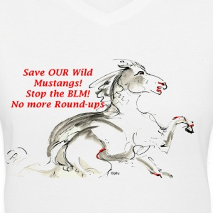 No more Round-ups - Women's V-Neck T-Shirt