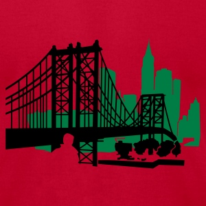 Lemon NewYork City Bridge T-Shirts - Men's T-Shirt by American Apparel