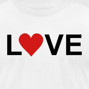 White love T-Shirts - Men's T-Shirt by American Apparel