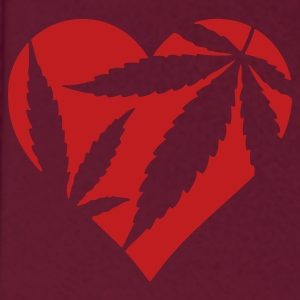 Burgundy Marijuana Heart / Cannabis Love Hoodies - Men's Hoodie