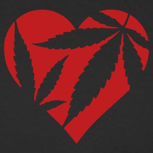 Black Marijuana Heart / Cannabis Love Long Sleeve Shirts - Men's Long Sleeve T-Shirt