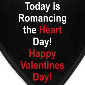 Black romancing_the_heart_day Other - Bandana