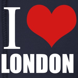 Navy i love london Zip Hoodies/Jackets - Men's Zip Hoodie