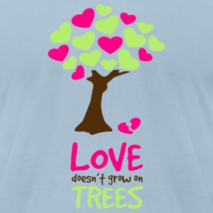 Light blue Love doesn't grow... T-Shirts - Men's T-Shirt by American Apparel
