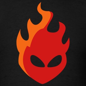 Fire Head 2c - Men's T-Shirt