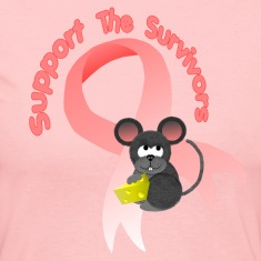 Light pink Support the survivors ribbon Mousey Long Sleeve Shirts