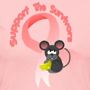 Light pink Support the survivors ribbon Mousey Long Sleeve Shirts - Women's Long Sleeve Jersey T-Shirt