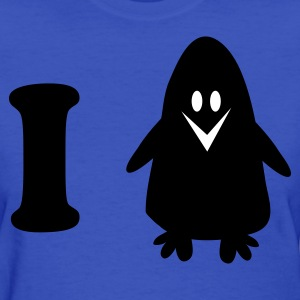 Light blue i heart cute penguin Women's T-Shirts - Women's T-Shirt