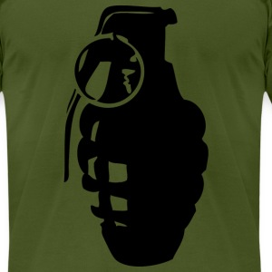 Olive grenade T-Shirts - Men's T-Shirt by American Apparel