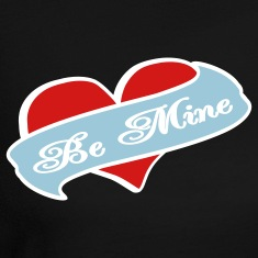 Black Be Mine Heart Banner Tattoo Long Sleeve Shirts