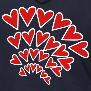 Navy Heart 4 Arcs Random Zip Hoodies/Jackets - Men's Zip Hoodie