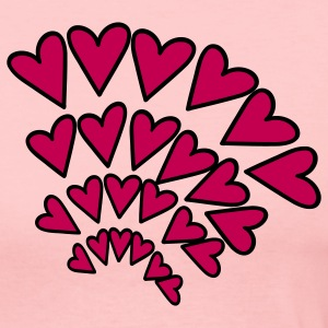 Light pink Heart 4 Arcs Random Long Sleeve Shirts - Women's Long Sleeve Jersey T-Shirt