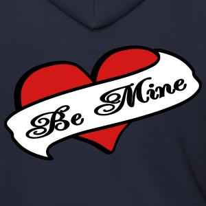 Ash  Be Mine Heart Banner Tattoo Zip Hoodies/Jackets - Men's Zip Hoodie
