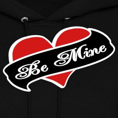 Black Be Mine Heart Banner Tattoo Hoodies