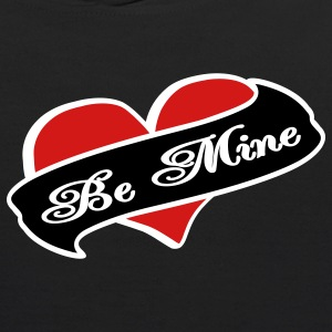 Black Be Mine Heart Banner Tattoo Sweatshirts - Kids' Hoodie