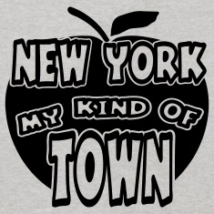 Heather grey New York, My Kind Of Town With Apple, 1 Color Sweatshirts