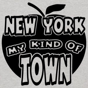Heather grey New York, My Kind Of Town With Apple, 1 Color Sweatshirts - Kids' Hoodie