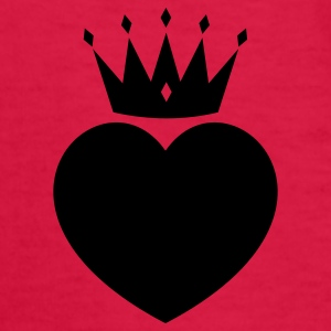 Red heart crown Kids' Shirts - Kids' Long Sleeve T-Shirt