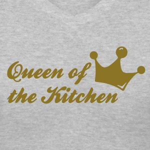 Gray queen of the kitchen Women's T-Shirts - Women's V-Neck T-Shirt