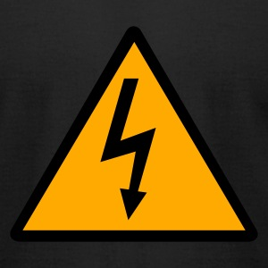 Black Lightning - Electricity T-Shirts - Men's T-Shirt by American Apparel